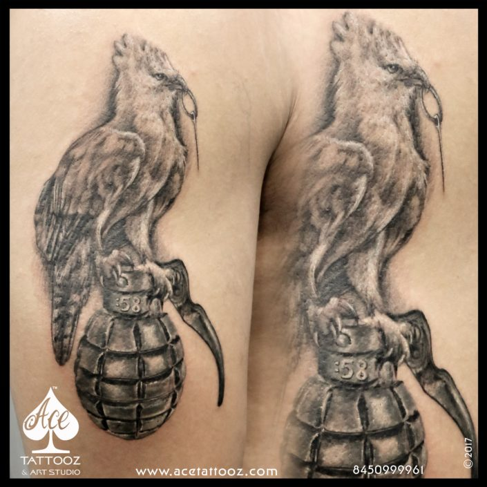 Bird Black and Grey Tattoo Designs