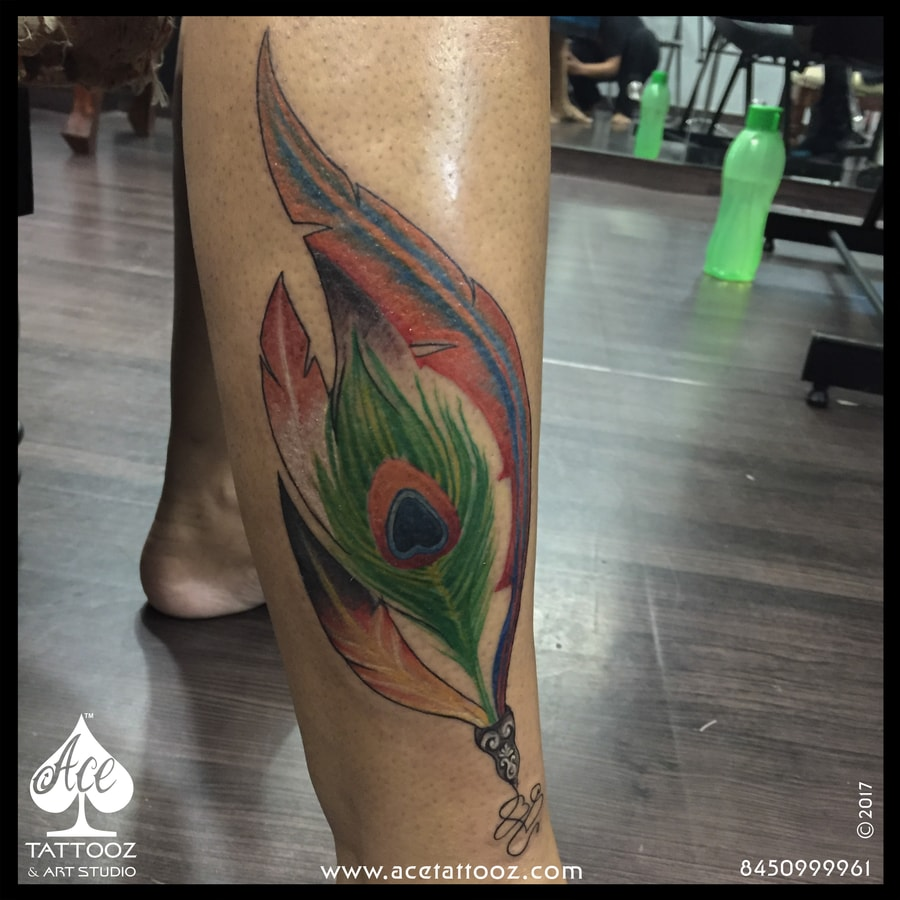 Peacock feather tattoo ace tattooz for Ink flow tattoo