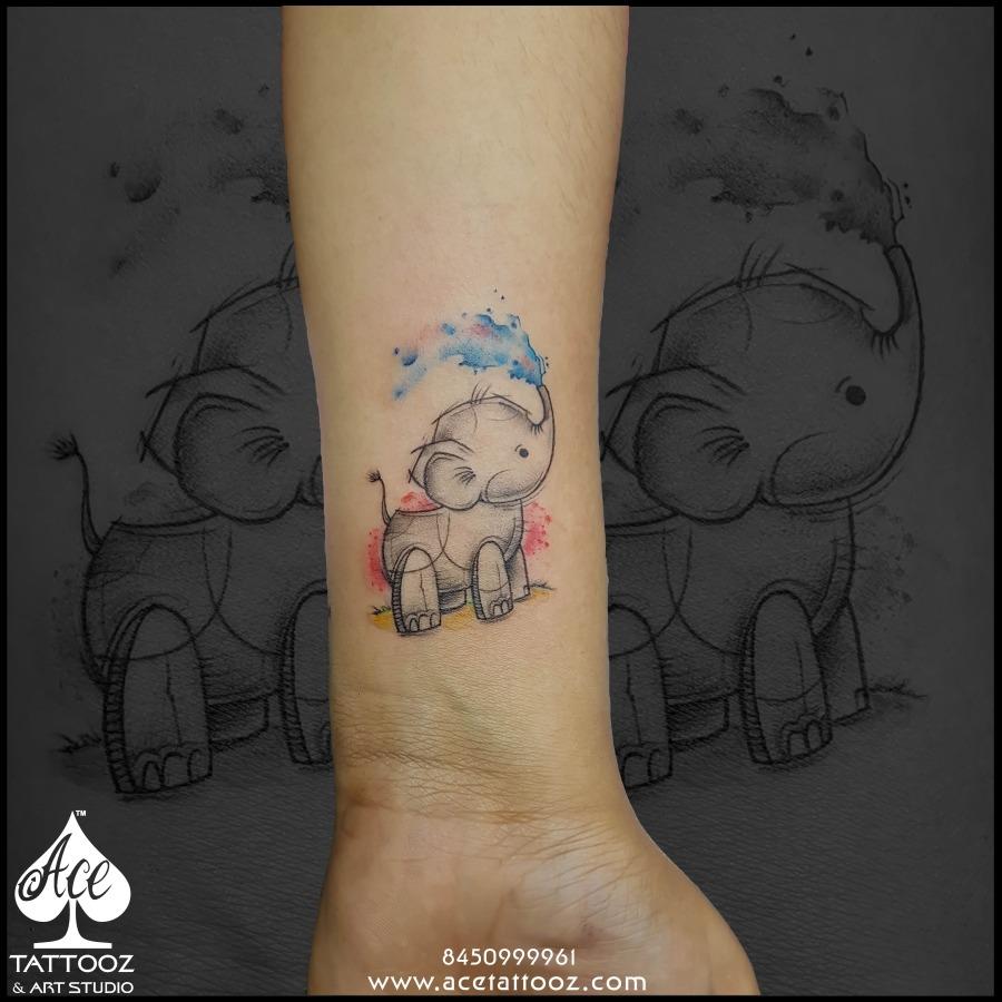 Cartoon tattoos ace tattooz for Cartoon baby tattoos