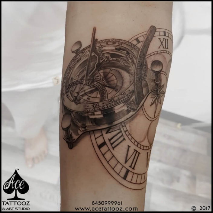 Watch Leg Tattoo Designs