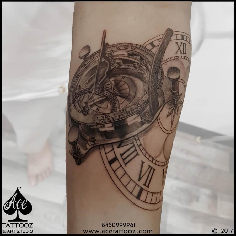Best Leg Tattoo Designs Ever with Watch
