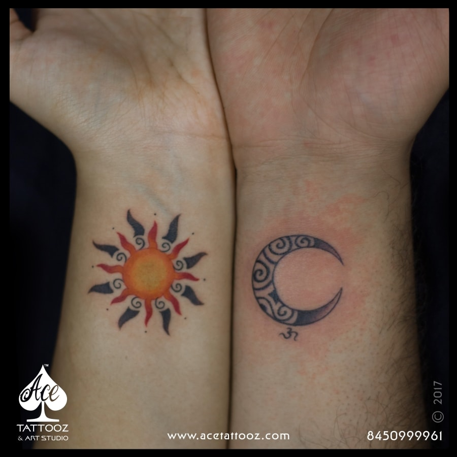 sun moon brother sister tattoo