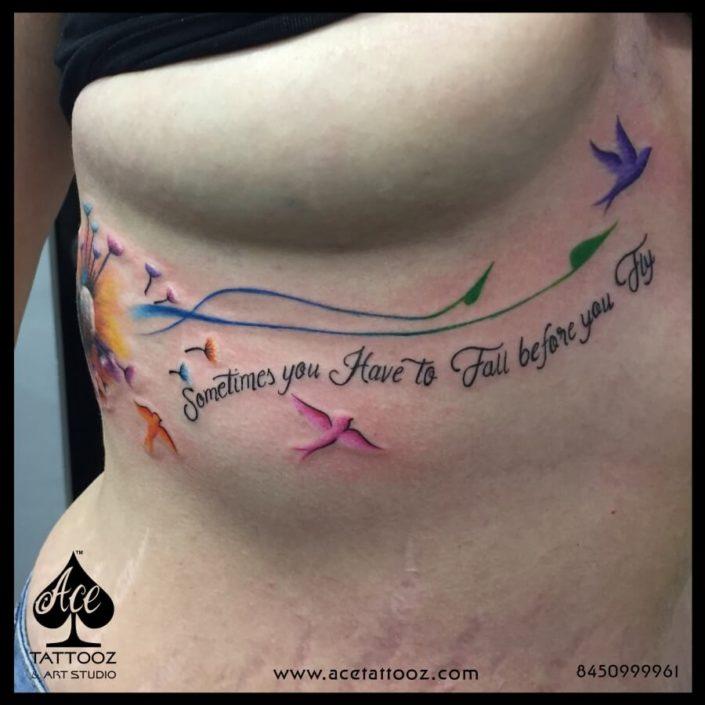 Dandelion Unique Flower Tattoo Designs for Women