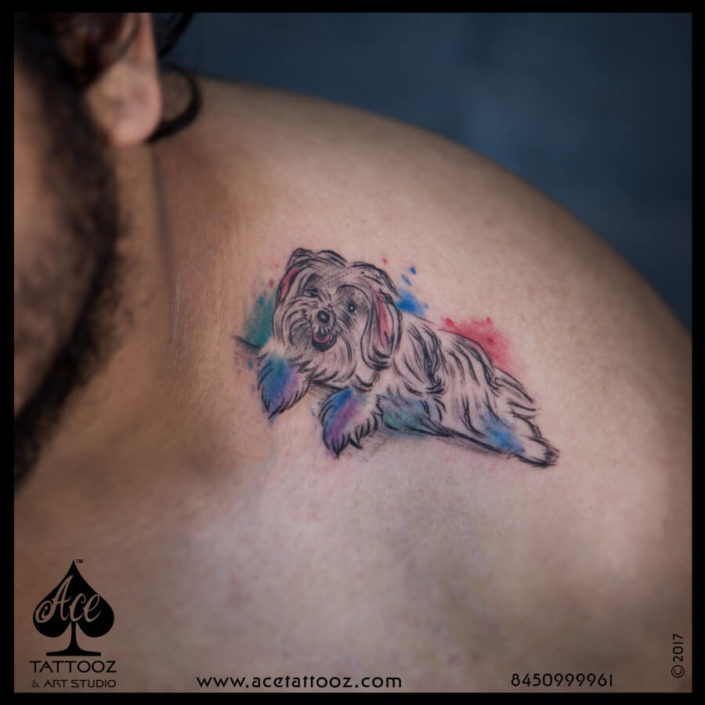 Dog Color Tattoo