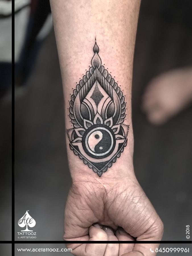 Ying Yang Tattoo Ideas for Womens Wrist