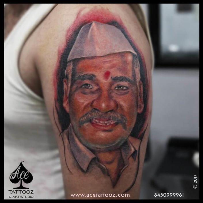 Father Portrait Best Color Tattoos