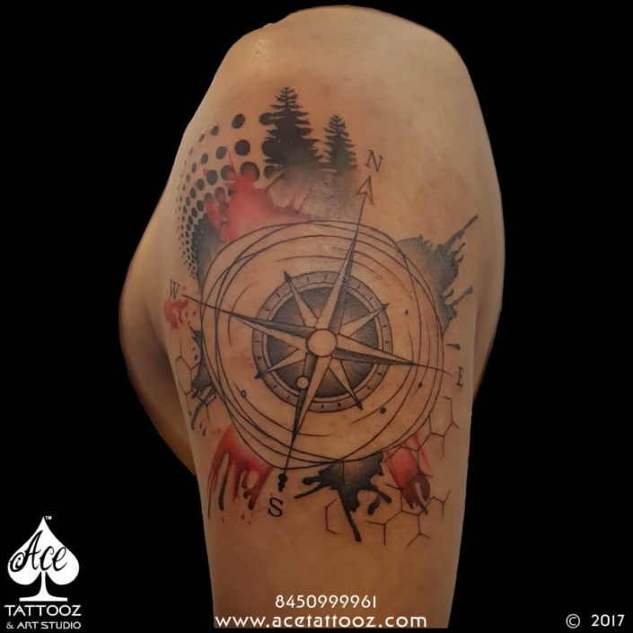 Travel Compass Tattoo