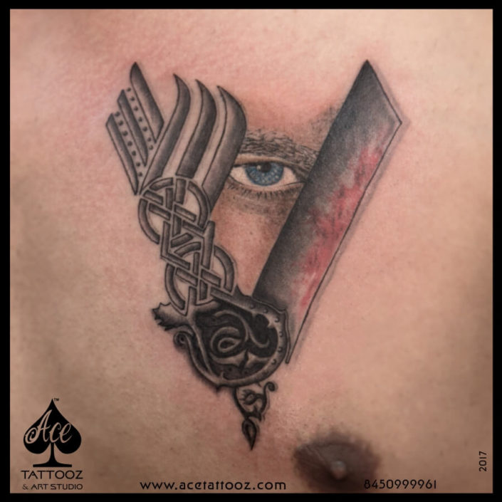 Viking V Symbol Tattoo