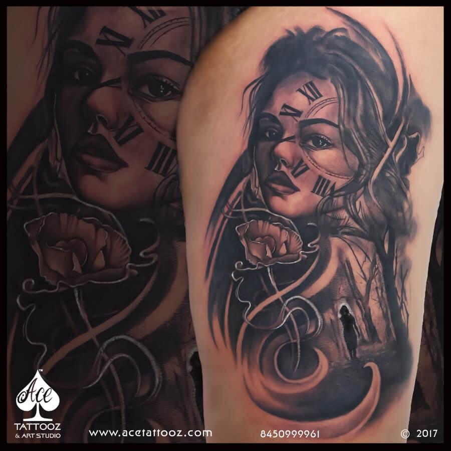 Big Black And Grey Tattoo Ace Tattooz