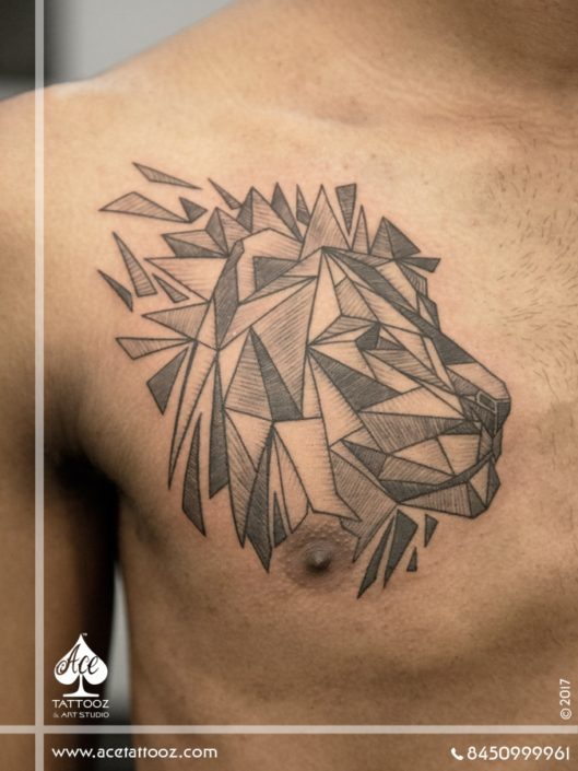 Geometric Lion Tattoo Designs