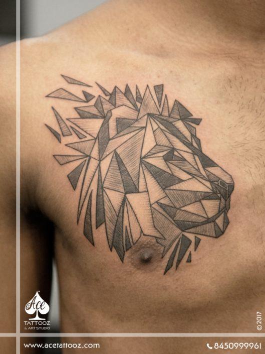 Geometric Lion Tattoo Designs