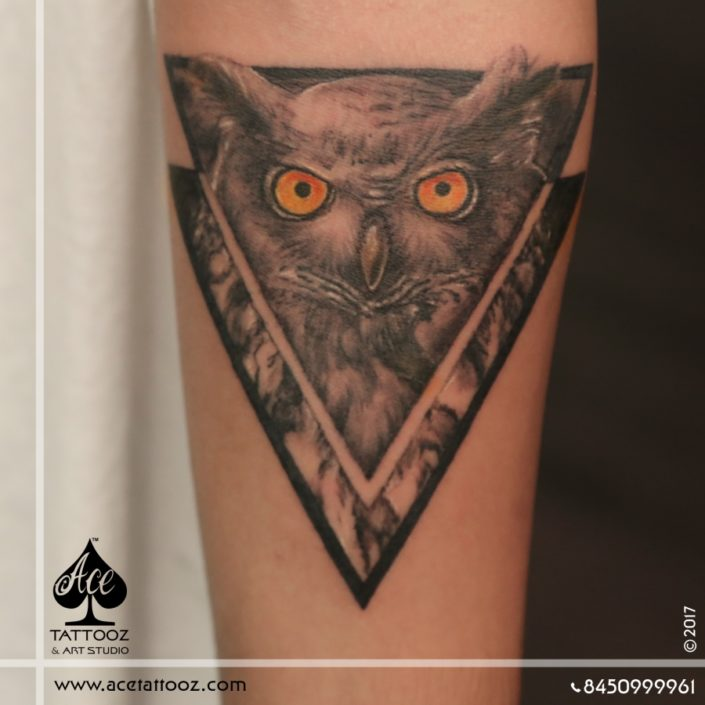 Realistic Owl 3D Tattoo Designs on Hand