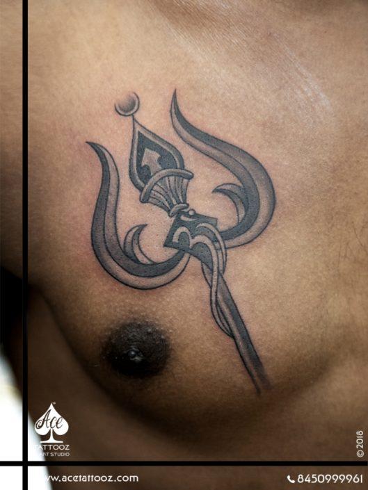 Lord Shiva Black and Grey Tattoo Designs