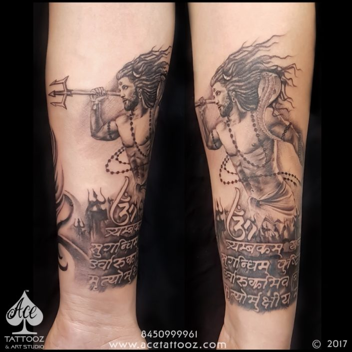 Lord Shiva Black and Grey Tattoo Designs