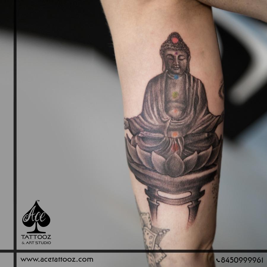 Buddha Black And Grey Tattoo Ace Tattooz