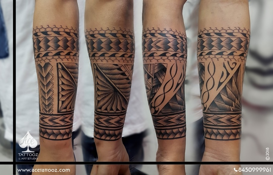 maori tattoo half sleeve tattoo ace tattooz. Black Bedroom Furniture Sets. Home Design Ideas