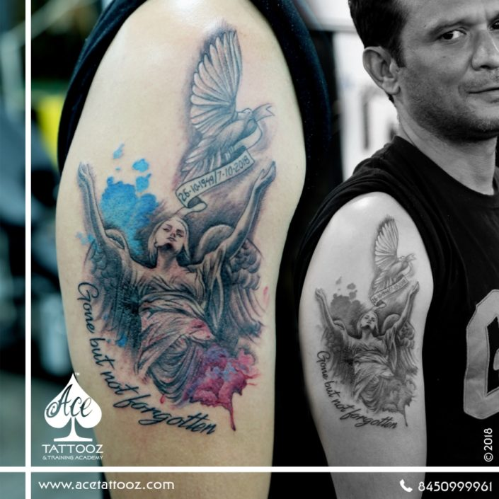 Angel Tattoo Design Studio Permanent Tattoo Cost Price: Mom Dad Tattoo Designs- Ace Tattooz
