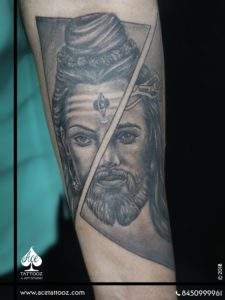 Combination of God Tattoo Designs on Arm | Lord Shiva & Lord Jesus