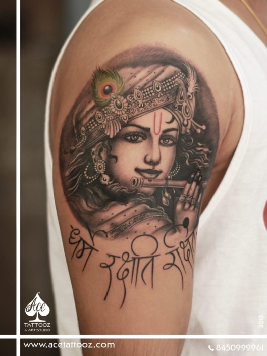 Lord Krishna tattoo Designs