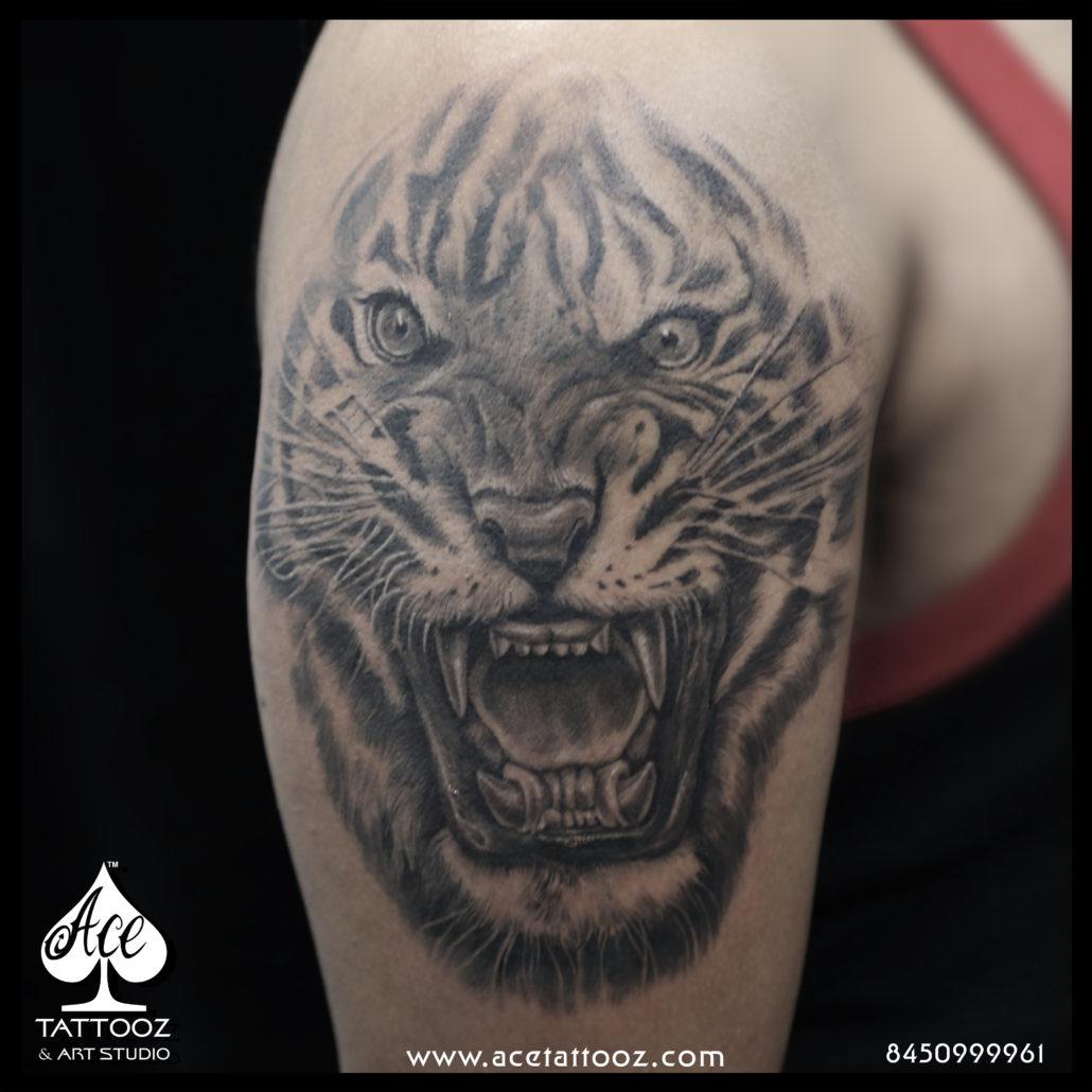 Tiger Arm 3D Tattoo - Ace Tattooz