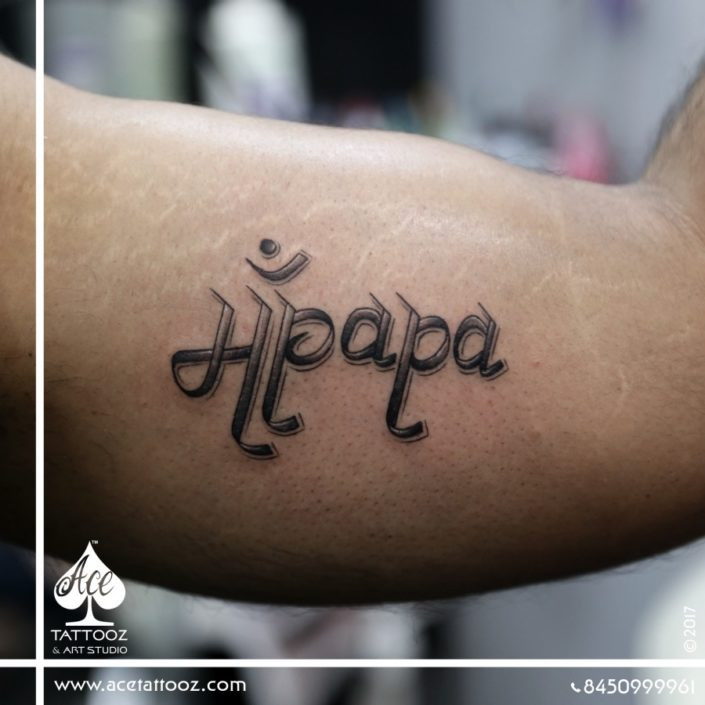 Typography and Name Tattoos